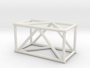 "2'6"" 16""sq Box Truss 1:48 in White Natural Versatile Plastic"