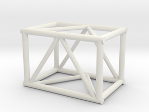 "2'6"" 20.5""sq Box Truss 1:48 in White Natural Versatile Plastic"