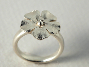ring flower s44 in Matte Gold Steel