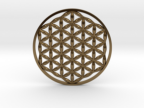 Flower Of Life (no bale)  in Polished Bronze