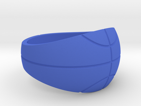 Size 8 Basketball Ring  in Blue Processed Versatile Plastic