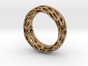 Trous Ring Size 7.5 in Polished Brass