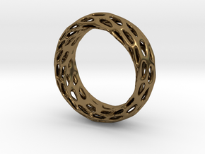 Trous Ring Size 7.5 in Polished Bronze