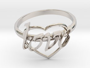 Ring Of Love in Rhodium Plated Brass