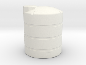 """1/64th """"S"""" Scale 1000 Gal Vertical Tank in White Strong & Flexible"""