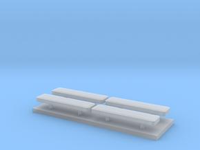 Whelen lightbar 29,5 mm 4stuks 1/43 in Smooth Fine Detail Plastic