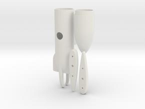 key cam underwing pod in White Natural Versatile Plastic
