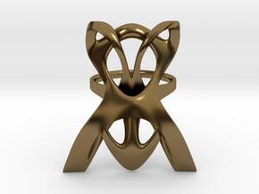 INTERLACE RING (US 7 / GER 55 / Ø inside 17,5 mm) in Polished Bronze