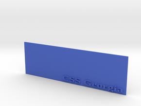Base for 1/600 CSS Georgia in Blue Processed Versatile Plastic