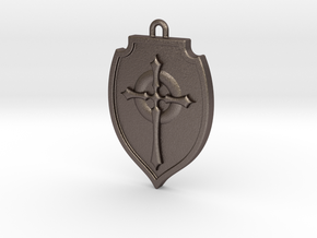 Shield 002 in Polished Bronzed Silver Steel