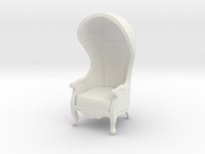 1:48 Quarter Scale Untextured Carrosse Chair in White Natural Versatile Plastic