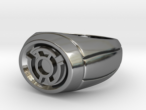 Yellow Lantern Ring in Fine Detail Polished Silver