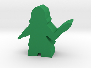 Roma Assassin Meeple in Green Processed Versatile Plastic