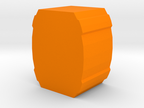 Game Piece, Barrel Token in Orange Strong & Flexible Polished