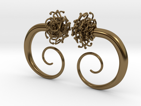 Plugs  /gauge The Gorgon / size 2G (6.5 mm) in Polished Bronze