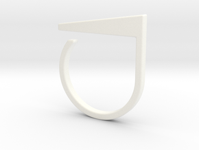 Adjustable ring. Basic model 2. in White Processed Versatile Plastic