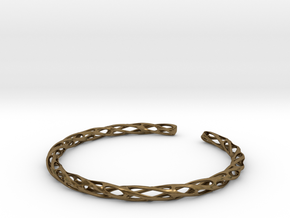 Twisted Pierced Bangle No.2 in Natural Bronze