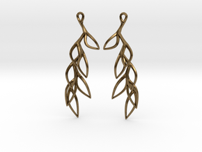 Leaf Drop Earring in Natural Bronze
