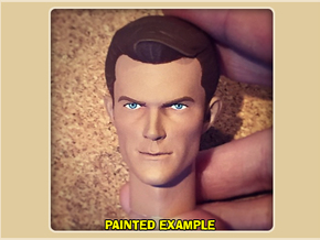 1:6 Scale James West Head in White Processed Versatile Plastic
