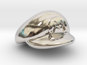 M-Plumber Cap in Rhodium Plated Brass