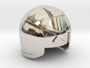 Judge Helmet in Rhodium Plated Brass