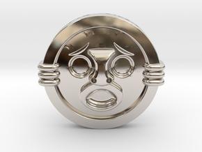 Mirror Shield II in Rhodium Plated Brass