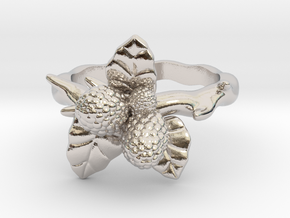 Wild Berry Ring - (Select a size) in Rhodium Plated Brass