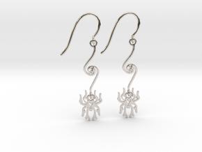 Spider Earrings in Platinum