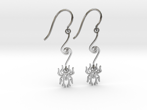 Spider Earrings in Premium Silver