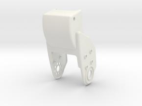 HR-OS1 Orion Left Tibia Armor in White Natural Versatile Plastic