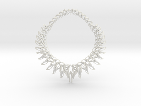 Mahuika Necklace in White Natural Versatile Plastic