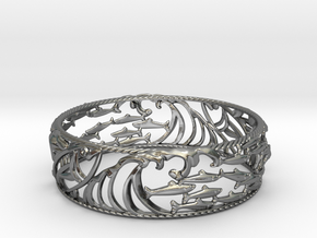 Sardine Wave Bracelet in Polished Silver