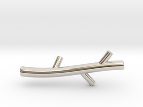 Stick in Rhodium Plated Brass
