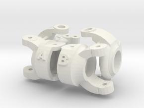 Kingpin Inclination Chub Knuckle Losi Mrc in White Natural Versatile Plastic