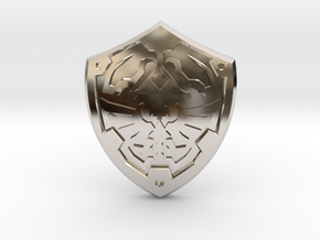Royal Shield II in Rhodium Plated Brass