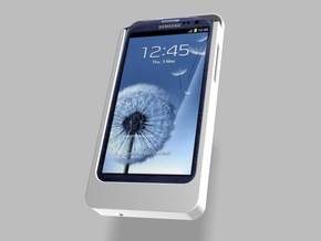 Samsung S3 Charger 2500mah with USB Power Out in White Natural Versatile Plastic