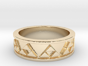 Triforce Ring in 14k Gold Plated Brass