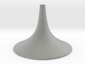 Simple Medium Conical Vase in Metallic Plastic