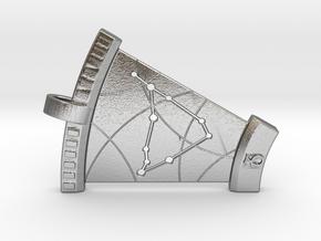 Capricorn Constellation Pendant in Natural Silver