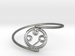 Annabel - Bracelet Thin Spiral in Fine Detail Polished Silver