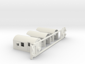 FM Guards Van, New Zealand, (OO Scale, 1:76) in White Natural Versatile Plastic