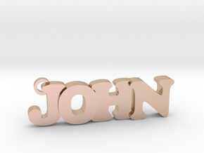 JOHN (Keychain - Pendant) in 14k Rose Gold Plated Brass