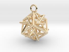 Star-in-Box in 14k Gold Plated Brass