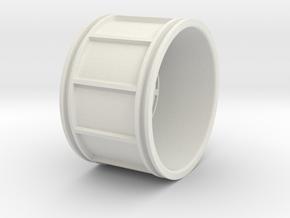 Us Truck Rim racing wheel medium in White Natural Versatile Plastic