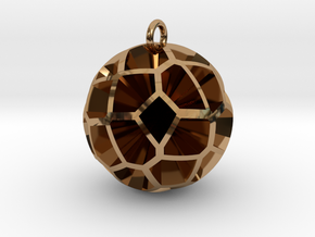 Voronoi sphere 3 in Polished Brass