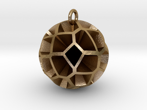Voronoi sphere 3 in Polished Gold Steel