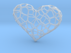 Voronoi heart in Smooth Fine Detail Plastic