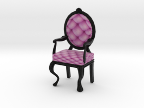 1:48 Quarter Scale PinkBlack Louis XVI Chair in Full Color Sandstone