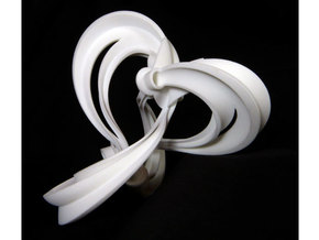 Figure 8 knot complement triangulation in White Natural Versatile Plastic