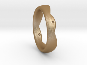 Swing Ring elliptical 19mm inner diameter in Matte Gold Steel